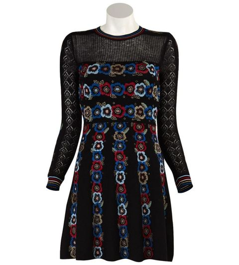 "<p>Valentino Black Floral Midi Dress, $3,500; <a href=""http://justoneeye.com/valentinoblackfloralmididress.html"">justoneye.com</a></p>"
