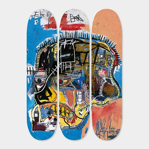 """<p>Basquiat Skateboard Triptych Skull, $500; <a href=""""https://www.momastore.org/museum/moma/ProductDisplay_Basquiat%20Skateboard%20Triptych%20Skull_10451_10001_200169_-1_26680_46167_200202"""">momastore.org</a></p>"""