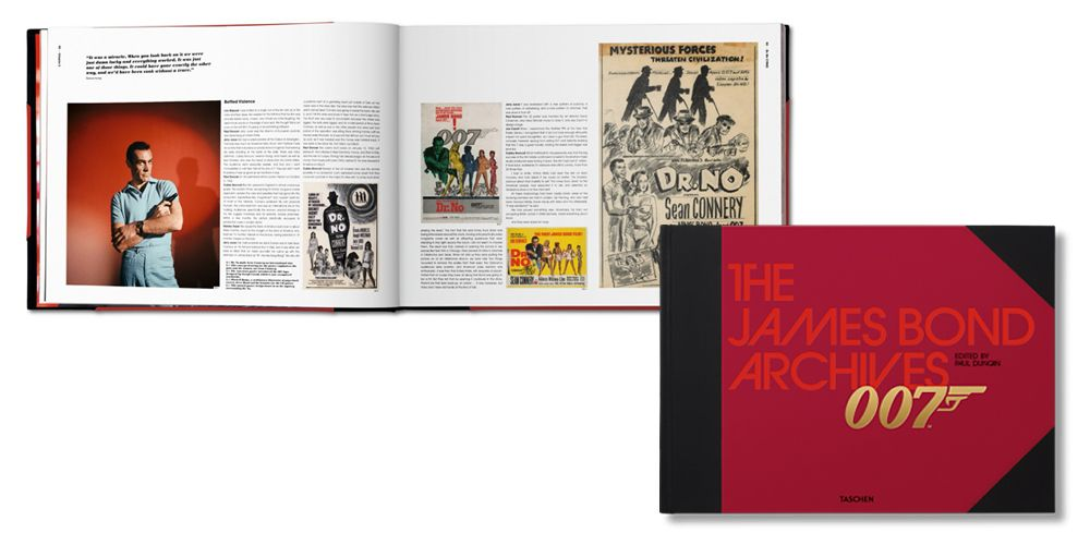 "<p>Taschen <em>The James Bond Archives, </em>$200; <a href=""http://www.taschen.com/pages/en/catalogue/film_music/all/00399/gallery.the_james_bond_archives.htm"">taschen.com</a></p>"