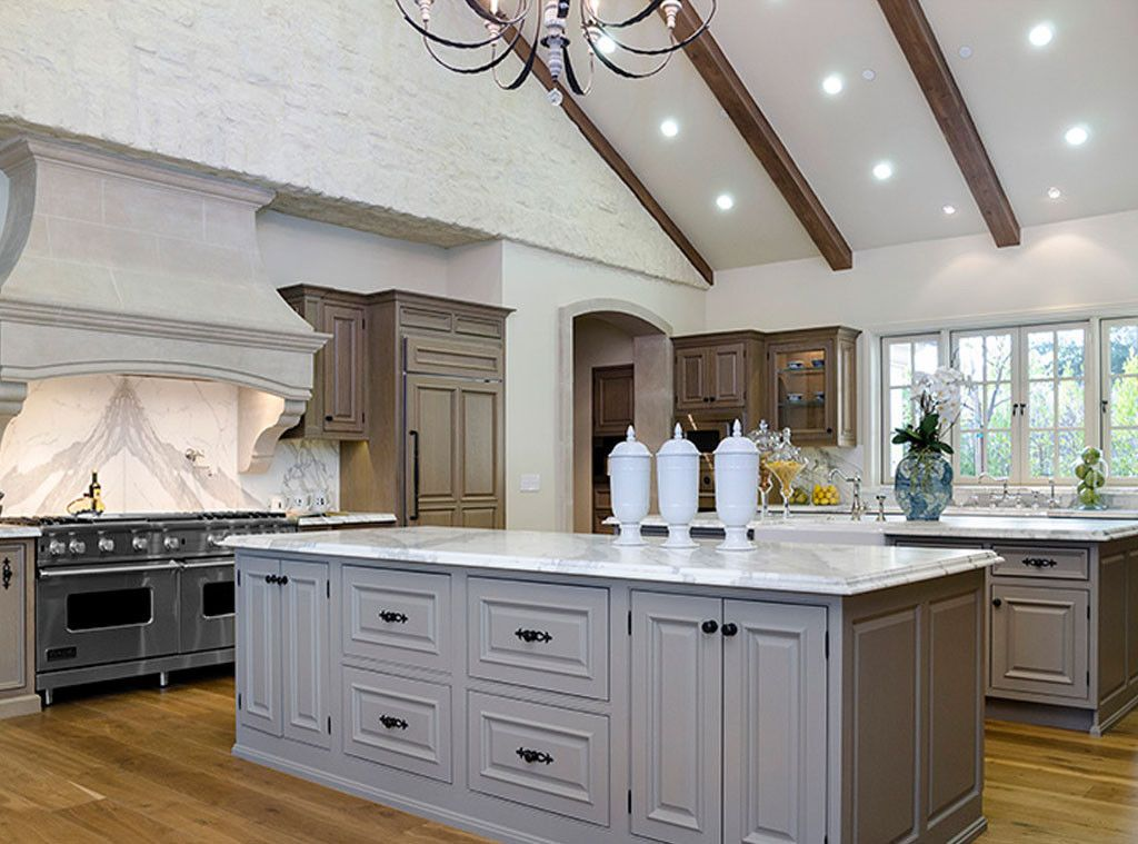 Luxurious European inspired kitchen of #kimye: Interior Design: Kim Kardashian & Kanye West's French Country Home