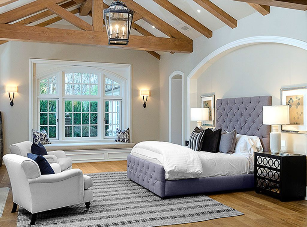 Kim and Kanye's master bedroom in Hidden Hills: Interior Design: Kim Kardashian & Kanye West's French Country Home