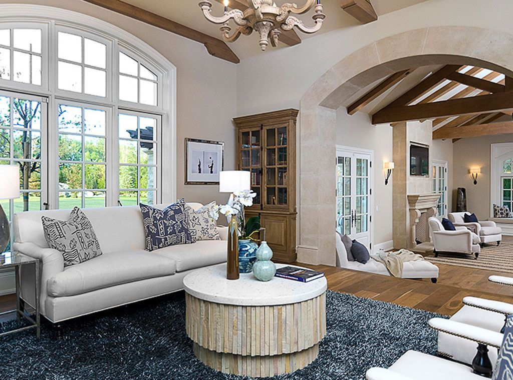 Elegant living area in Hidden Hills mansion #kimye bought: Interior Design: Kim Kardashian & Kanye West's French Country Home