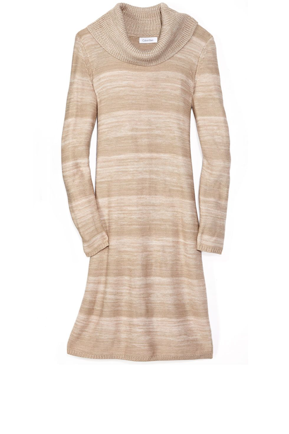 "<p>Calvin Klein White Label Space Dye Mock Neck Sweater Dress, $129.50; <a href=""http://www.calvinklein.com/shop/en/ck/womens-clothing/womens-national-ad-1/18486774"" target=""_blank"">calvinklein.com</a></p>"
