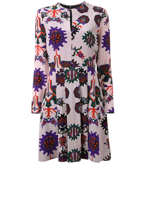 "<p>MSGM Pattern Print Blouse Dress, $1, 048; <a href=""http://rstyle.me/n/befh6hbc6jf"">farfetch.com</a></p>"