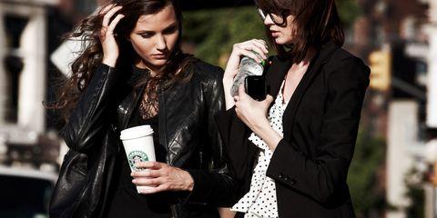 Jacket, Outerwear, Coat, Leather, Fashion, Leather jacket, Blazer, Earrings, Street fashion, Single-lens reflex camera,
