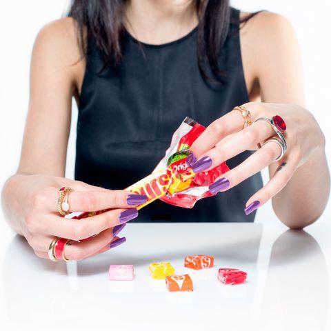 Finger, Hand, Nail, Wrist, Carmine, Jewellery, Nail care, Thumb, Nail polish, Manicure,