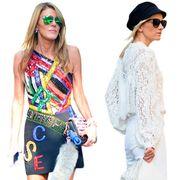 Clothing, Eyewear, Glasses, Vision care, Sunglasses, White, Dress, Style, Fashion accessory, Street fashion,