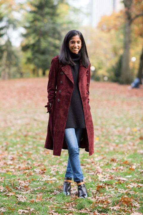 Brown, Green, Jacket, Coat, Textile, Jeans, Outerwear, People in nature, Boot, Style,