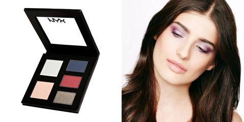 "<p>Outlier: red. </p><p>NYX Rocker Chic palette in Tainted Love, $18, available <a href=""http://www.nyxcosmetics.com/rocker-chic-palette/NYX_259.html?cgid=eyes#start=1&cgid=eyes"">online</a> or at NYX brick-and-mortar <a href=""http://www.nyxcosmetics.com/locator"">stores</a></p>"