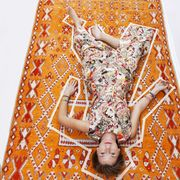 Yellow, Orange, Pattern, Amber, Visual arts, One-piece garment, Pattern, Symmetry, Day dress, Motif,