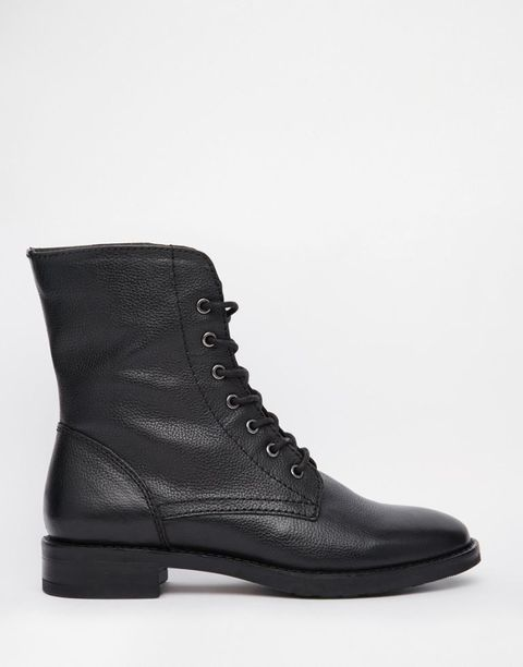 <p>ASOS Aerodrome Leather Lace Up Ankle Boots, $80; asos.com</p>