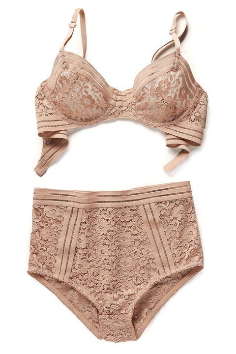 "<p>Lonely Agnes Underwire Bra, $86; <a href=""http://www.anthropologie.com/anthro/product/36267250.jsp#/"" target=""_blank"">anthropologie.com</a></p><p>Lonely Agnes High-Rise Brief, $52; <a href=""http://www.anthropologie.com/anthro/pdp/detail.jsp?id=36267466&color=023#/"" target=""_blank"">anthropologie.com</a></p>"