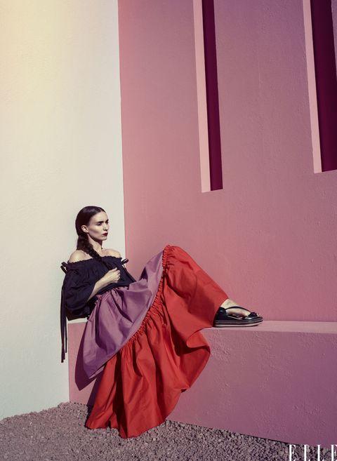 Magenta, Purple, Pink, Maroon, Violet, Costume, One-piece garment, Costume design, Gown, Fashion model,
