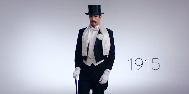 Watch 100 Years of Men's New Year's Eve Fashion, Long for the Good Ol' Days
