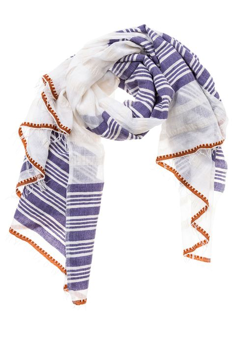 "<p>""A scarf that can double as a blanket means you don't have to use the one on the plane.""</p><p>$210; similar styles at <a href=""http://www.lemlem.com/"" target=""_blank"">lemlem.com</a></p>"