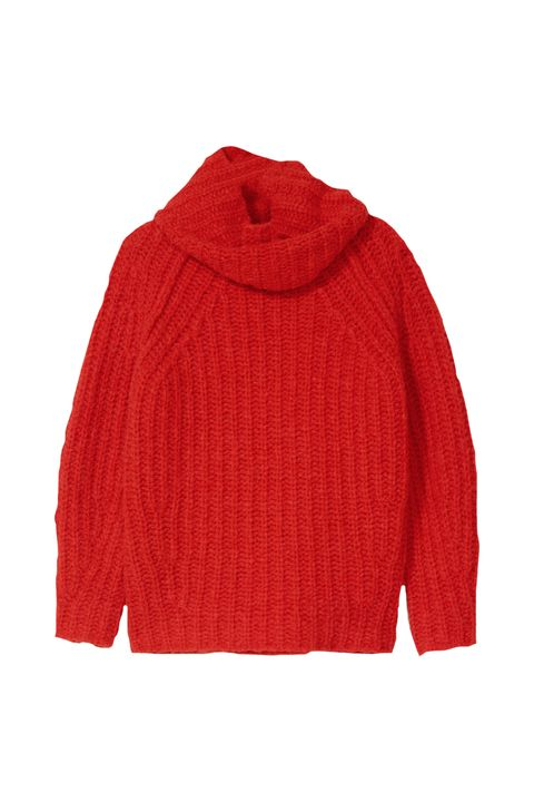 Product, Sleeve, Sweater, Textile, Red, Outerwear, Wool, Woolen, Carmine, Maroon,