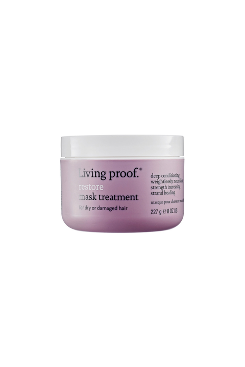 """<p>The scientists behind Living Proof dreamt up this mask as a way of returning all stands to """"virgin hair,"""" AKA hair that has never been heat styled or dyed. The mask works on hair to make each lock healthier and 9 times more damage resistant, meaning that you'll be getting your money's worth. </p><p><strong>Living Proof Restore Mask Treatment, $42; <a href=""""http://www.sephora.com/restore-mask-treatment-P296441?skuId=1376276"""">sephora.com</a>.</strong></p>"""