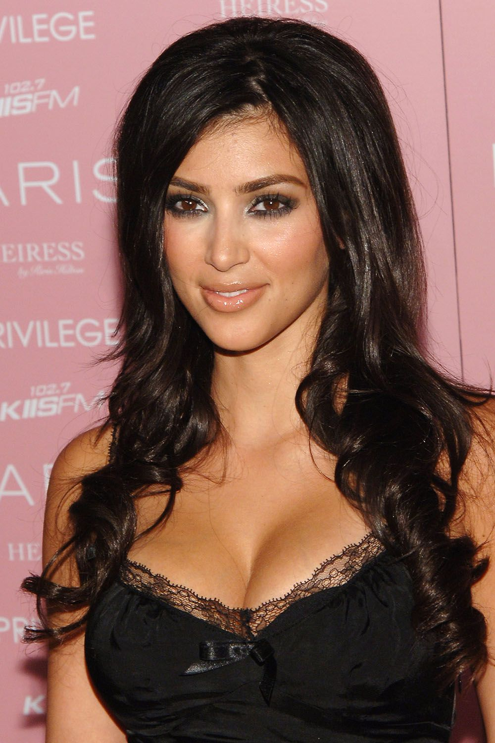 Kim Kardashian during Paris Hilton's CD Release Party at Privilege - Arrivals at Privilege in West Hollywood, California, United States. (Photo by J.Sciulli/WireImage)
