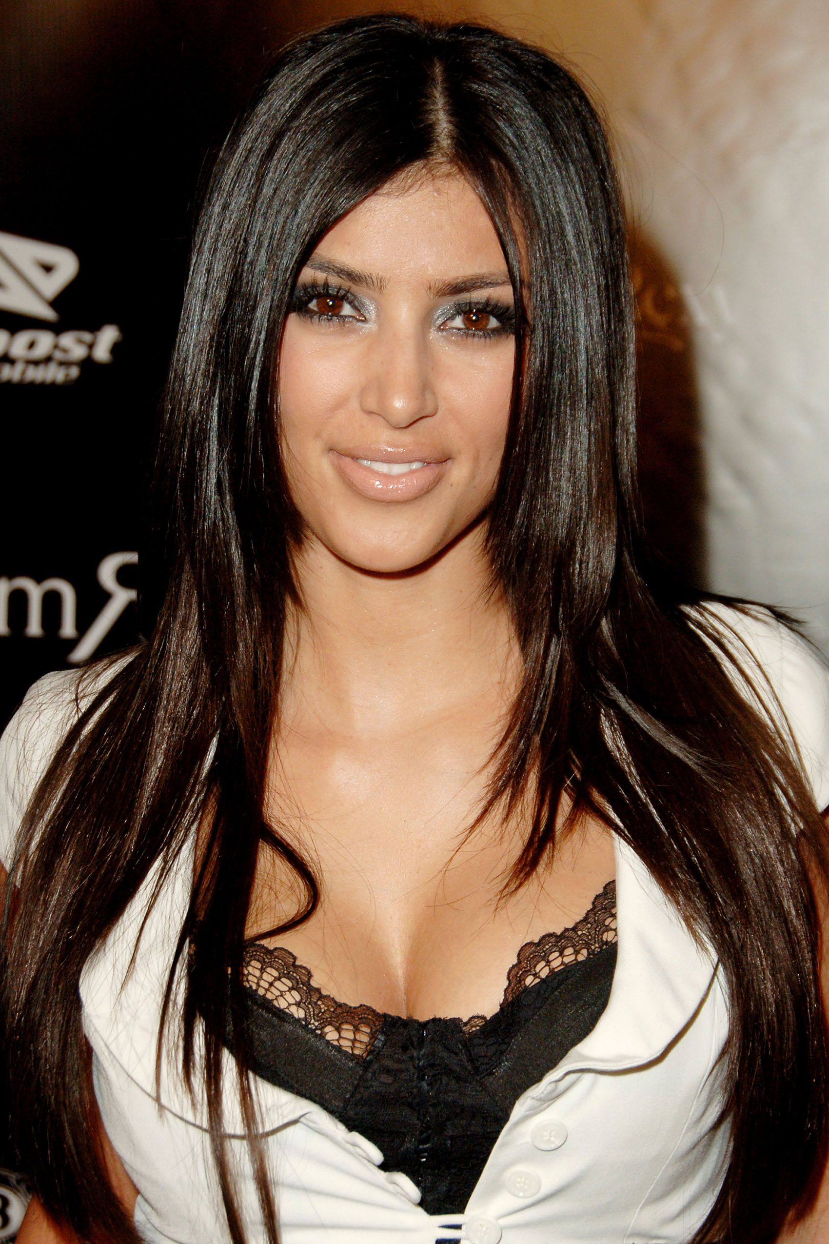 "Kim Kardashian during William Rast Presents ""Street Sexy"" Spring Summer 07 - Arrivals at Social Hollywood in Los Angeles, California, United States. (Photo by Jon Kopaloff/FilmMagic)"