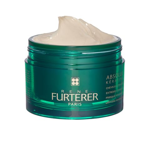 "<p>Superintense Rene Furterer Absolue Kératine Ultimate Renewal Mask ""restores the natural beauty of extremely damaged, brittle hair,"" says ELLE Middle East's Maria Aziz.</p>"
