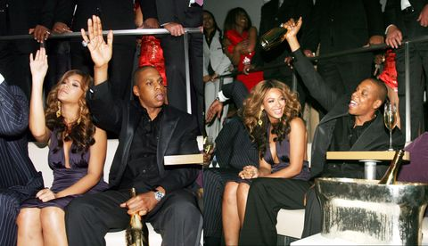 <p>Celebrating the one year anniversary of the 40/40 Club in 2006.</p>