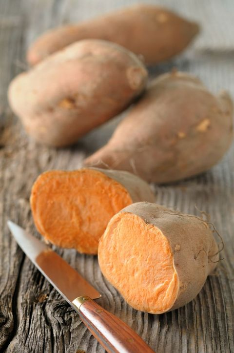 <p>High in carbohydrates and loaded with beta-carotene (vitamin A) and vitamin C, these will help fight off midday fatigue. Bonus: Kids will love this sweet treat at mealtime. Try them mashed or cut into strips, tossed with a little oil and and baked for a healthier alternative to french fries.</p>