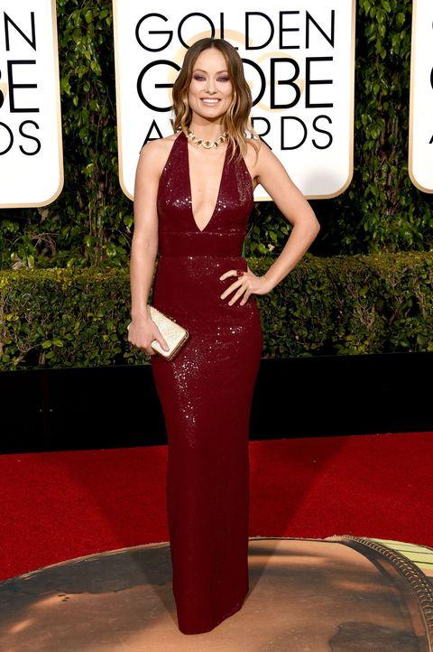 Dress, Shoulder, Red, Style, Flooring, Fashion model, Fashion, Waist, Carpet, One-piece garment,