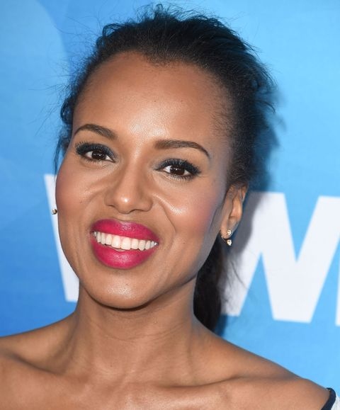 """<p>The face-brightening hue looks gorgeous on <a href=""""http://www.redbookmag.com/people/kerry-washington/"""">Kerry Washington</a>–how glowy does she look here?</p><p><strong>Try:</strong> Yves Saint Laurent Rouge Pur Couture in Le Fuchsia, $36, <a href=""""http://www.yslbeautyus.com/rouge-pur-couture-satin-radiance-lipstick/194YSL.html?dwvar_194YSL_color=1%20Le%20Rouge&cgid=makeup-lipstick#start=1&cgid=makeup-lipstick"""">yslbeautyus.com</a>.</p>"""