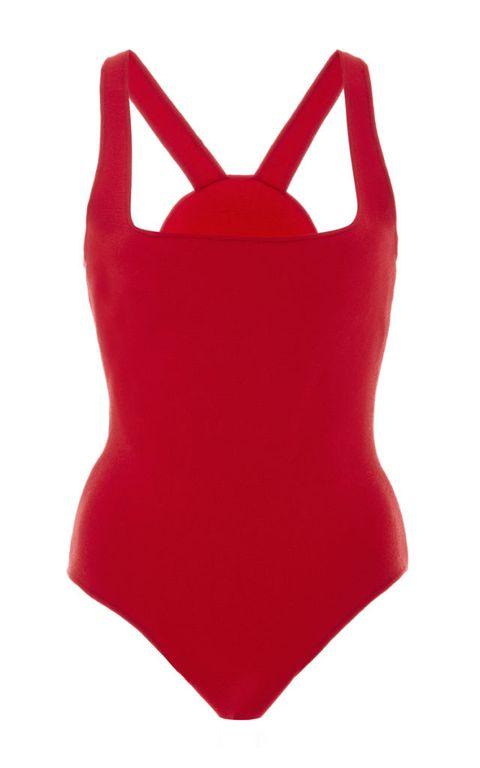 """<p>Rosie Assoulin Cotton Knit Square Neck Bodysuit, $895; <u><a href=""""https://www.modaoperandi.com/rosie-assoulin-ss16/cotton-knit-square-neck-bodysuit"""" target=""""_blank"""">modaoperandi.com</a></u></p>"""