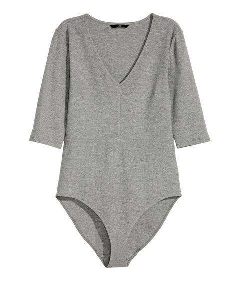 "<p>H&M Rib-Knit Bodysuit, $18; <u><a href=""http://www.hm.com/us/product/41081?article=41081-A&cm_vc=SEARCH"" target=""_blank"">hm.com</a></u></p>"