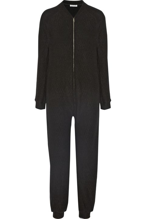 "<p>The Elderstatesman Itsa One Zee Cashmere Jumpsuit, <span class=""price"">$1,380</span>; <a href=""http://www.net-a-porter.com/us/en/product/514486/The_Elder_Statesman/itsa-one-zee-cashmere-jumpsuit"">net-a-porter.com</a> <span class=""redactor-invisible-space""></span></p>"