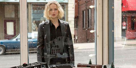 Blond, Jacket, Fashion, Standing, Outerwear, Street fashion, Window, Jeans, Top, Brown hair,