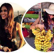 Facial expression, Fruit, Cooking plantain, Natural foods, Whole food, Banana, Banana family, Produce, Saba banana, Long hair,