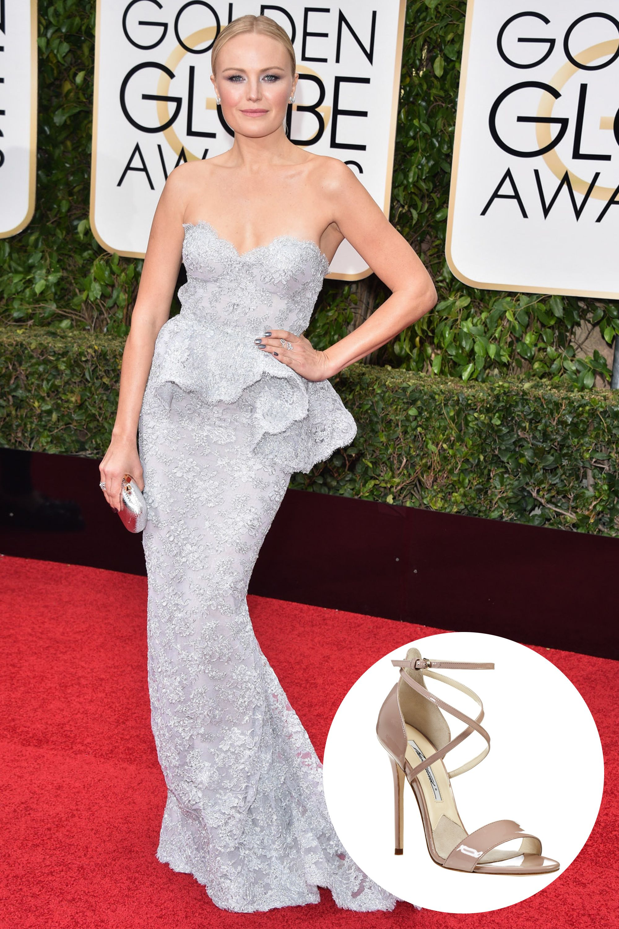 04444a657 What Shoes Celebrities Wore on the Golden Globes 2016 Red Carpet -  Celebrity Comfortable Party Shoes