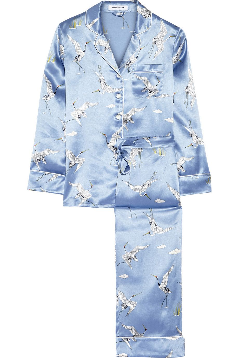 "<p>Olivia von Halle Lila Printed Silk-Satin Pajama Set, $525&#x3B; <a href=""http://www.net-a-porter.com/us/en/product/657599/olivia_von_halle/lila-printed-silk-satin-pajama-set"">net-a-porter.com</a></p><p><strong></strong><strong><strong>How soon can I get them?</strong></strong> Order by 10AM in select cities and you can get your PJs the same exact day. </p>"