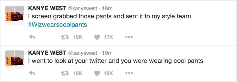 Kanye West Wiz Khalifa Twitter Kanye West Pants Twitter Rant