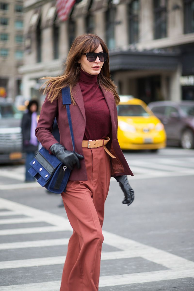 <p>Don't be afraid to layer a turtleneck underneath a blazer—a thinner fabric (think cotton or jersey) makes the pairing polished, not bulky.</p>