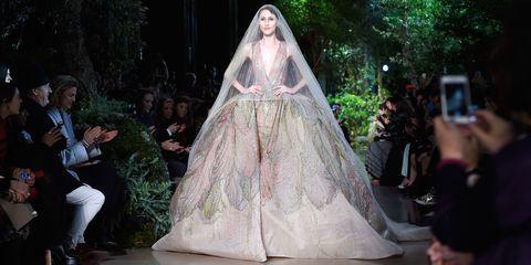 Veil, Bridal veil, Bridal clothing, Dress, Gown, Formal wear, Wedding dress, Bride, Fashion, Tradition,
