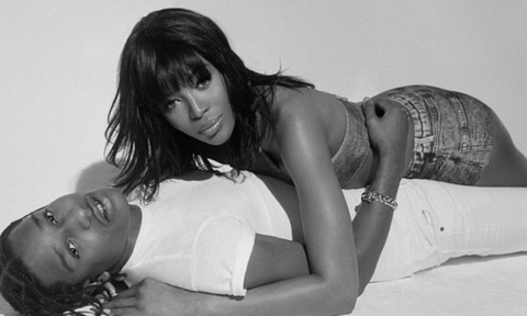 Naomi Campbell and A$AP Rocky Snuggle Like It's 1999