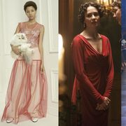 Shoulder, Textile, Formal wear, Dress, Style, Fashion accessory, Gown, Fashion, Jewellery, Waist,