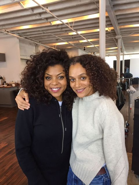"<p>Hairstylist Chuck Amos—who maintains the voluminous curls of Tracee Ellis Ross, Erykah Badu, and Alicia Keys—shares the secrets behind Taraji P. Henson's ELLE cover look. Using a <a href=""http://www.amazon.com/Hot-Tools-Marcel-Curling-HT1106/dp/B000HOX5QA"">Hot Tools curling iron</a>, Amos folded and pressed the hair into S-shape divots, a shape that ""creates more volume and stays in the hair a lot longer than a normal barrel curl.""</p>"