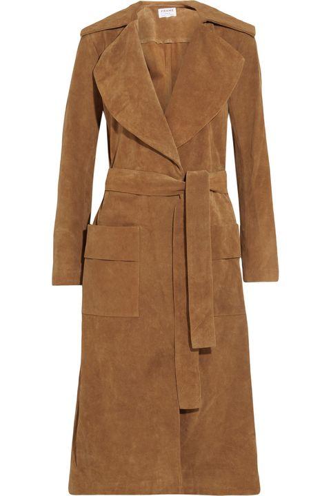 """<p>Frame Denim Le Duster Suede Coat, $840; <a href=""""https://www.net-a-porter.com/us/en/product/609720/frame_denim/le-duster-suede-coat"""">net-a-porter.com</a> </p>"""