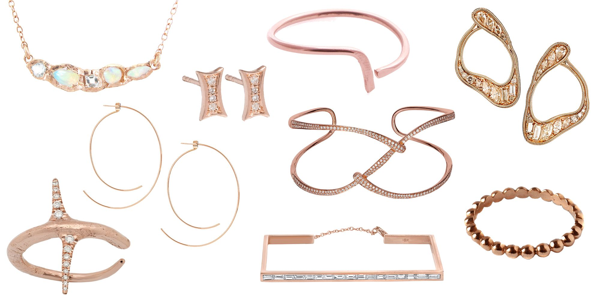 17 Pieces Of Rose Gold Jewelry Best Rose Gold Earrings And Bracelets