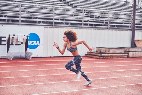 "<p>This is Maya Rush, a  12-year-old 2-time Junior Olympic Champion in javelin and 800-meter relay. ""In order to win I have to always give more than 100% not just on the track when it counts, but at practice too,"" Rush says.</p>"
