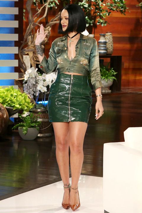 <p>Who: Rihanna</p><p>When: February 4, 2016</p><p>Why: It's been a minute since we've seen Rihanna out and about (and dressed up). For the <em>Ellen</em> show she traded her cool IDGAF style for a polished look, wearing an Alexandre Vauthier skirt, Roseark jewelry, and Christian Louboutin shoes. </p>