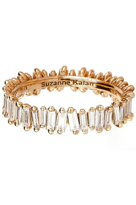 "<p>Suzanne Kalan 18-Karat Rose Gold Baguette Band, $6,160; <a href=""http://suzannekalan.com/shop/product-line/rings/gold-diamond-baggat-bagnd-clone-en-2.html"" target=""_blank"">suzannekalan.com</a></p>"