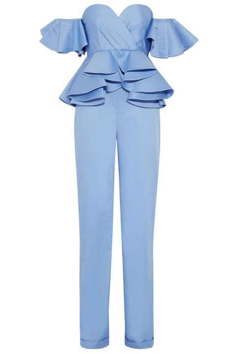 "<p>A baby blue jumpsuit doesn't exactly scream ""come hither,"" but it's probably exactly what you want to be wearing when you're out having fun with your girls.</p><p><em>Johanna Ortiz Azucena Ruffled Cotton-Poplin Jumpsuit, $1,495; </em><a href=""http://www.net-a-porter.com/us/en/product/671791/johanna_ortiz/azucena-ruffled-cotton-poplin-jumpsuit"" target=""_blank""><em>net-a-porter.com</em></a><br></p>"