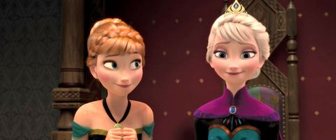 "<p><strong>The Squad</strong>: Sisters Anna (Kristen Bell) and Elsa (Idina Menzel) who are physically separated by a wintery curse and have to work together to save their kingdom. They're joined by a snowman named Olaf, a reindeer named Sven, and a guy named Kristoff. </p><p><strong>The Motto</strong>: ""Some people are worth melting for."" </p><p><strong>The Anthem</strong>: Menzel's much-sung anthem ""<a href=""https://www.youtube.com/watch?v=L0MK7qz13bU"">Let It Go</a>"" </p><p><strong>The Takeaway</strong>: Sibling love will save you when romantic love can't. And the best friend you'll ever find–besides your sister–is a talking snowman.</p>"