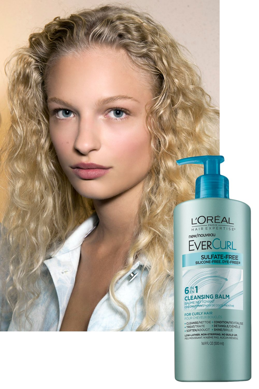 """<p>Curly hair tends to be dry—it's tricky for your scalp's natural oils to make their way down the length of a corkscrew or wave pattern. Too-vigorous or too-frequent washing only adds to the problem. Cut back on sudsing and amp up hydration with a creamy cleansing conditioner, such as <a href=""""http://www.lorealparisusa.com/en/products/hair-care/products/cleansing-conditioner/hair-expertise-evercurl-cleansing-balm.aspx"""" target=""""_blank"""">L'Oréal Paris EverCurl Cleansing Balm</a>.  """"It adds moisture and beautiful definition to curls,"""" Roszak says. Bonus: It also works as a styler. Just work one pump of the balm through damp hair to tame flyaways.</p>"""