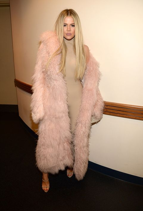 """<p>Who: Khloe Kardashian</p><p>When: February 11, 2016</p><p>Why: Of all of the <a href=""""http://www.elle.com/culture/news/a34022/what-the-kardashian-jenners-wore-to-yeezyseason3/"""">fur-klad Kardashians</a> at the Yeezy show, we prefer Khloe's soft pink and nude look the best (except for North's outfit, of course). </p>"""